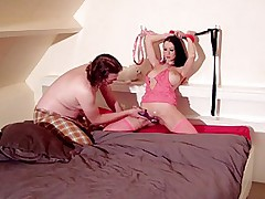 Fetish sex scene with whip cream