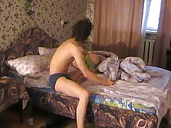 Dirty chick wakes up and is immediately in the mood to have sex