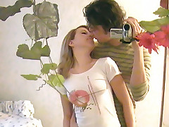 Young couple making their very first homemade sex tape