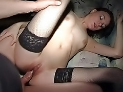 Pounding a tight teen pussy is more than pleasing to him