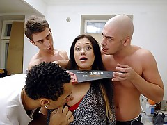 Hardcore group fuck deep blowjob and anal