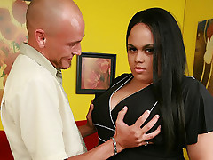 Christy Minx has the nicest looking BBW and here a horny guy joins her to admire her biggest asset