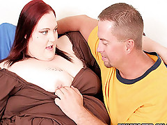 Hot redhead fatty getting fucked from behind