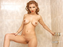 Sultry redhead gets clothes ripped off and then fucked by handyman