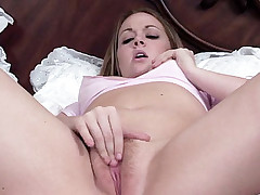 Horny chick Amber Peach bends over so she could have her pussy drilled by a big black cock