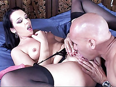 Watch this naughty chick Olivia Saint as she moans in pleasure riding a big cock
