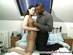 White horny two-timer bitches her husband with a well-hung ebony stud