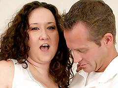 Sex starved BBW Jem Jewel gets cock cramming in her holes and cum glazing in her big butt