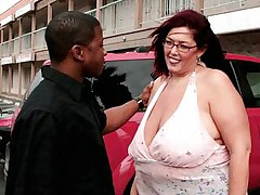 Hot fatty being fucked by black dude