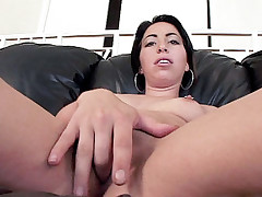 Horny pornstar Amanda arches her back bended over while getting doggied by a big cock
