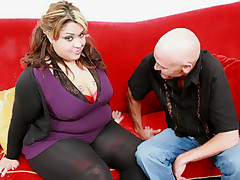Chubby slut Tasha Starzz and her bald buddy go for pussy and mouth pounding in this BBW Porn flick
