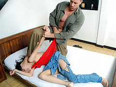 Petite latina gets violently fucked by nasty guy