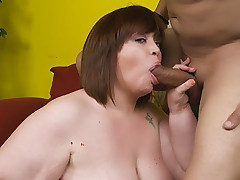Cute BBW Jezzebel Joli proves that she is not a prude by fucking a horny guy on camera