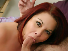 Chubby redhead Nina goes for hardcore doggy fucking and more in this meaty porn flick