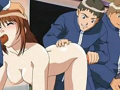 Hentai group orgy with poor babe fucked