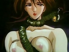 Hentai porn with alien monster tying naked chick