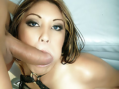 Slutty cheerer Nautica Thorn takes a facial cumshot after pleasuring a big cock in this racy cheerleader XXX