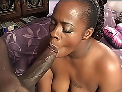 Curvy black babe getting her plump ass nailed