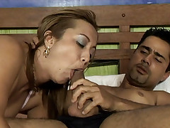 Exotic fatty Sabrina Ferrari ends up with her ass plugged in this hardcore fuck
