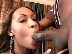 Hot black babe with a plump ass gets nailed hard