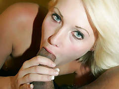 Stocking clad blondie Deze Ray and Julian St Jox take turns in getting fucked by a big black cock