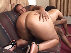 Ebony Cheyanne Foxxx showing off her thick phat booty and gets cock humping from behind