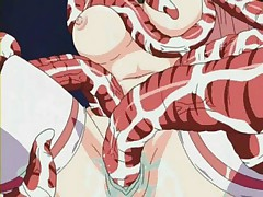 Violent hentai with gal roped and fucked by palps