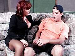 Watch this Milf porn featuring Sexy Vanessa as she rides a stiff cock of a younger dude