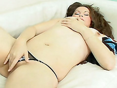 Hot bbw chick Yamila enjoys a teasing strangling as she gets fucked hard