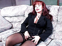 Stunning redhead Milf Sexy Vanessa gets pumped hard after giving his guy an awesome blowjob