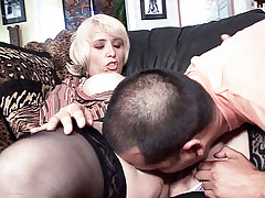 Milf Sophia Mounds lays flat on her stomach to allow her guy pound her from behind