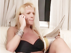 Lorena Smith makes good use of her raging shemale cock to fuck a horny blonde doggy style