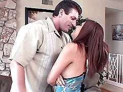 Exotic Latina milf Lena Juliette leans on the couch while her partner plowed her cunt