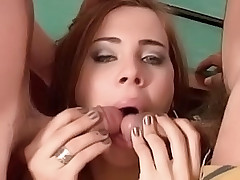 Luscious shemale having her firm ass fucked