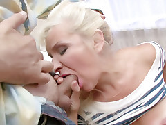Horny mature slut Aicha goes for a wild session of cock sucking and pussy fucking