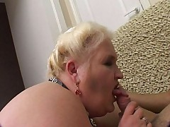 Naughty mature plumper enjoying some kinky sex