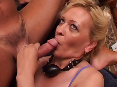 Hot GILF gets three studs stuffing her sex holes