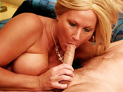 Big tit blonde milf Roxy gets on all fours and spreads wide as she gets a good behind bang