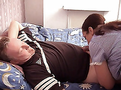 Hardcore mature lady Liz sucks a huge cock then got her turn having her pussy licked