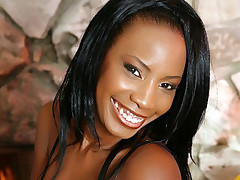 Ebony Kapri Styles has a sweet smile and perfect chocolate booty that is about to get fucked