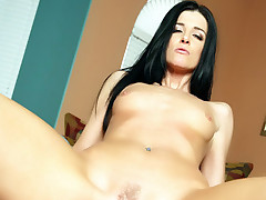 Naughty girl India Summer gladly spreads her legs to get slammed by a humongous schlong and gets gooed