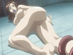Cruel anime with long palps penetrating hot body