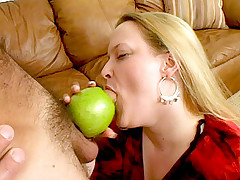 Big blonde gets pussy fucked and mouth creamed