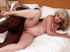 Blonde chick Stacey lets her black lover pump her full of his huge ebony dick