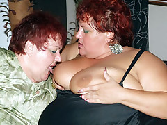 Bbw redheads Louise and Mindy go for a threesome and got their fat pussies extremely screwed