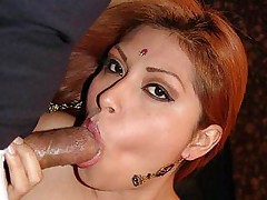 Indian hottie Rani gets spread wide as she gets her pussy fucked hard in this hot threesome