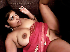 Chubby indian chick Arhuarya gets her thighs cum covered after having fucked hardcore
