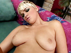Busty blonde gets her plump butt screwed