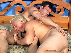 Busty Lynn Lemay gets her pussy fucked after fucking a horny blonde bisexual man