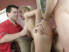 Young blonde wife Mallory takes her very first anal pounding from a guy she just met